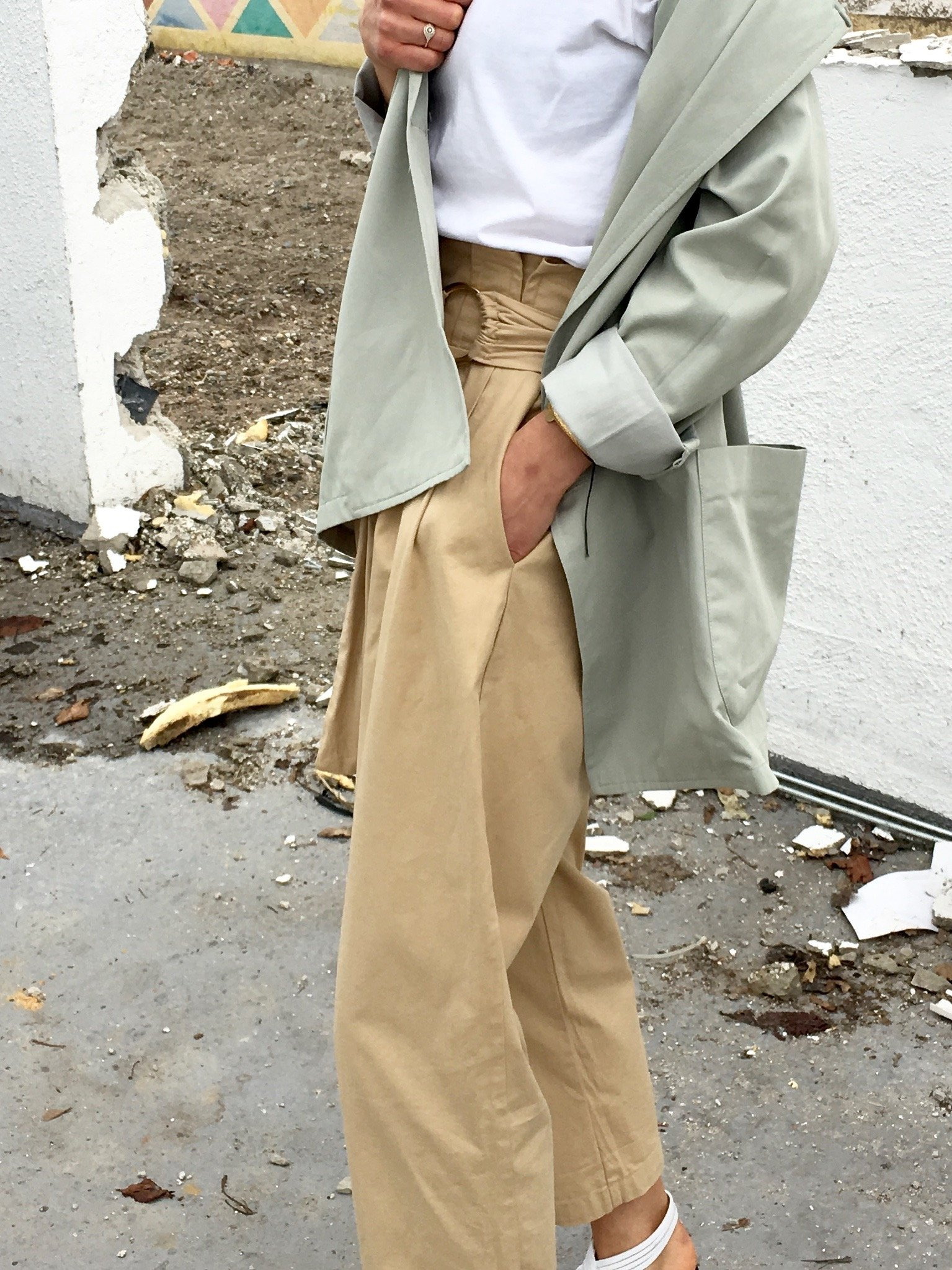 zara beige pants