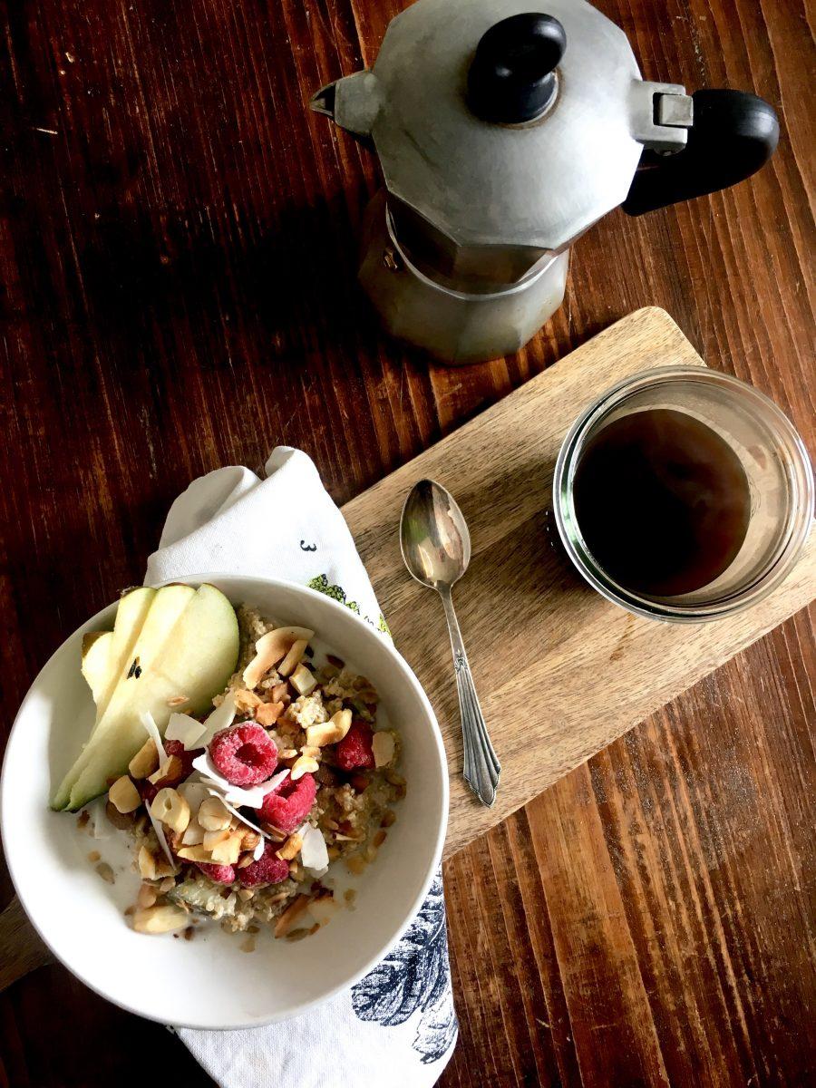 Birnen Quinoa Frühstücksidee