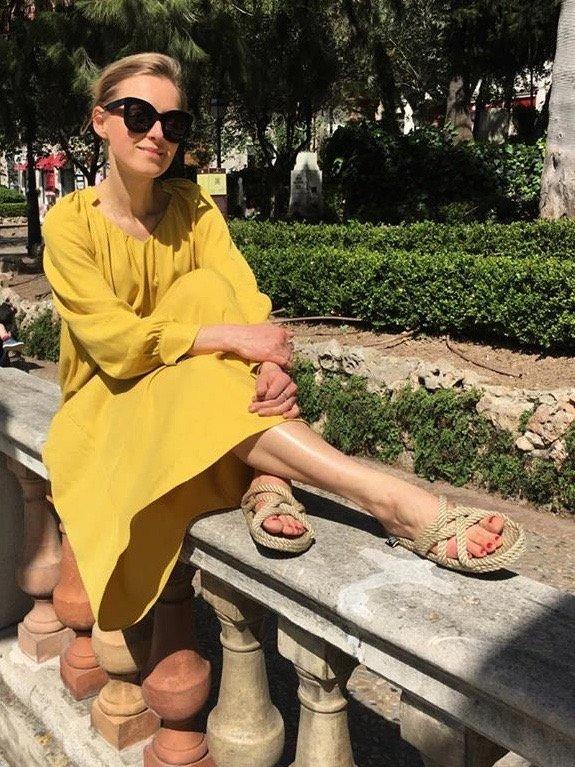 yellow maxi dress mango