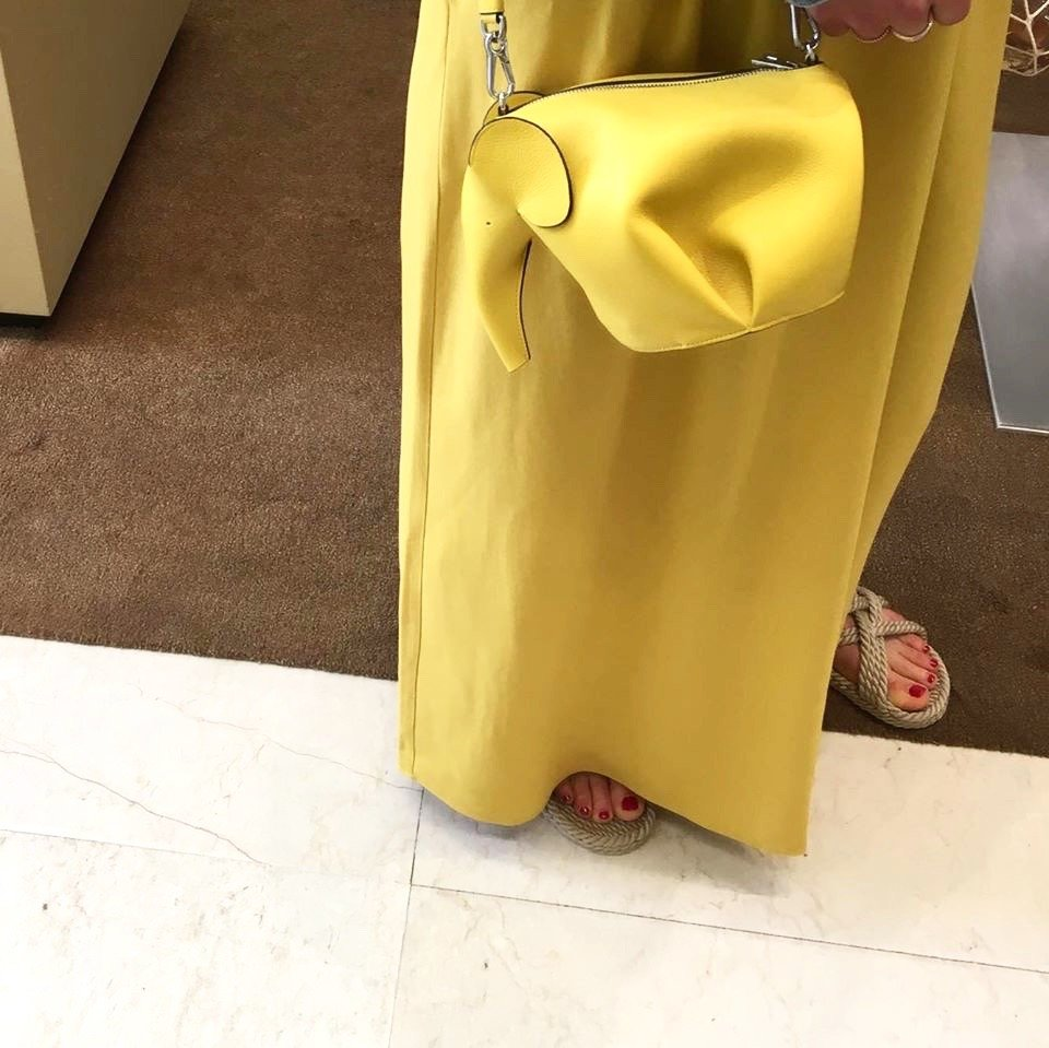 loewe elephant bag yellow