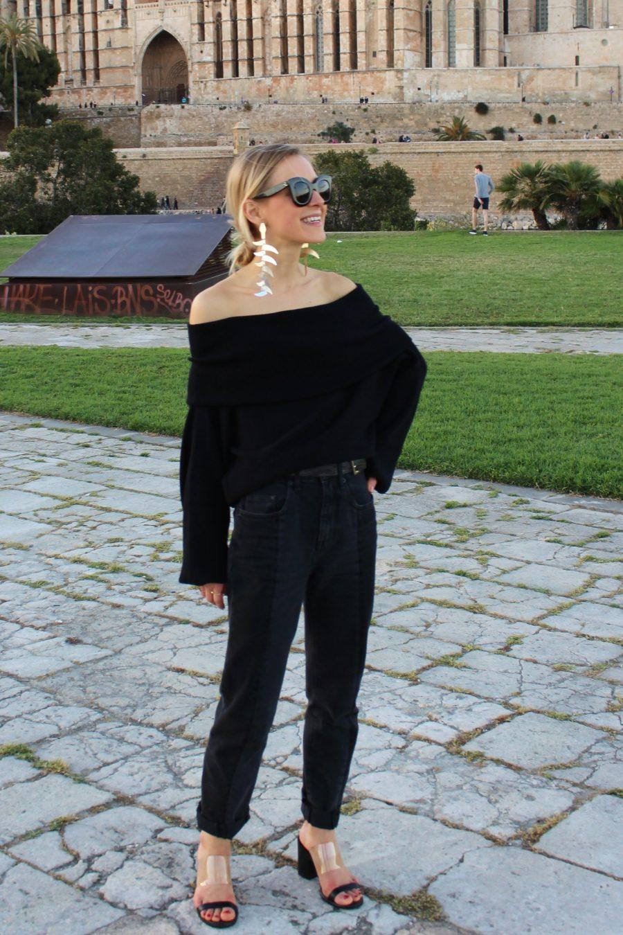 the off-shoulder knit zara