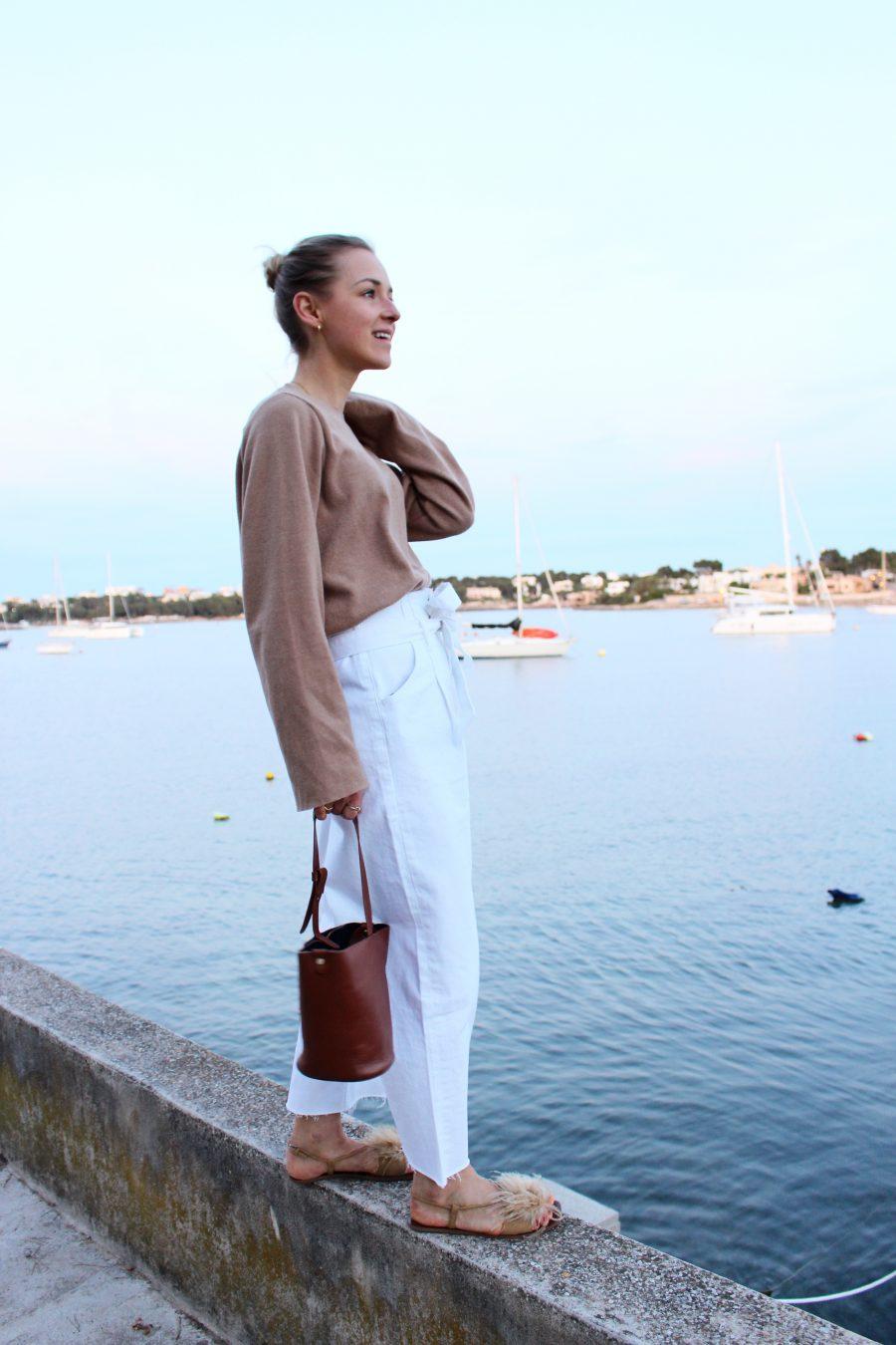 weiße jeans Zara