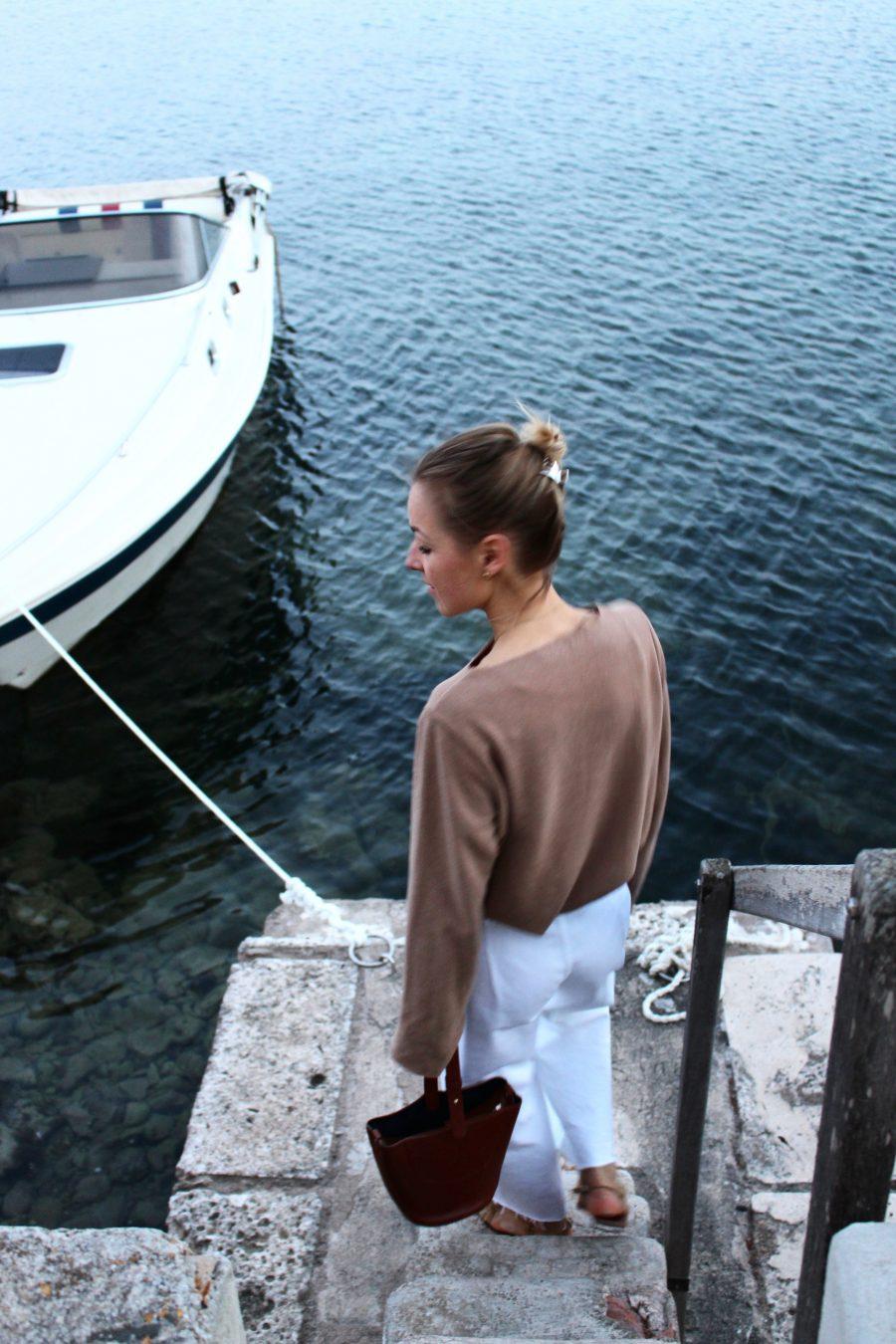 pullover zara beige