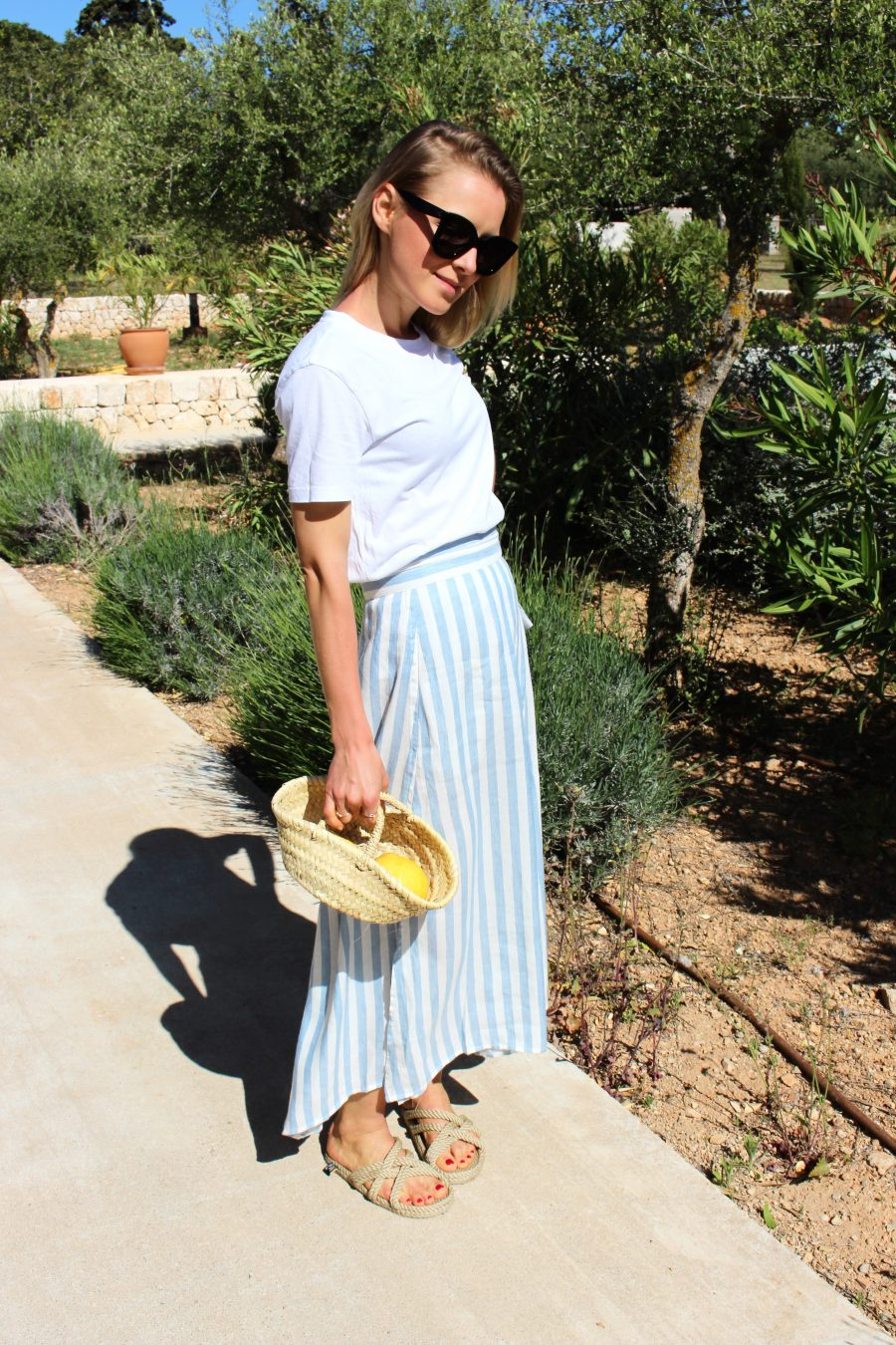 mango skirt blue
