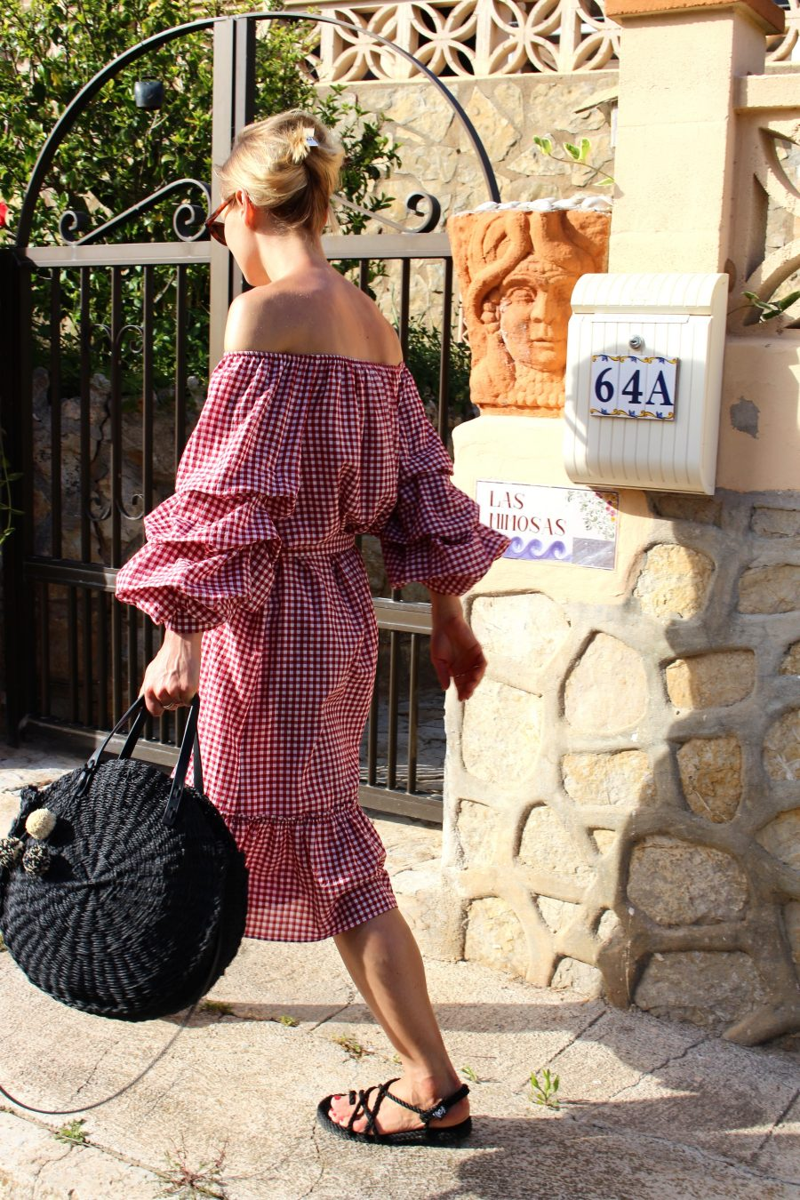vichy dress summer look