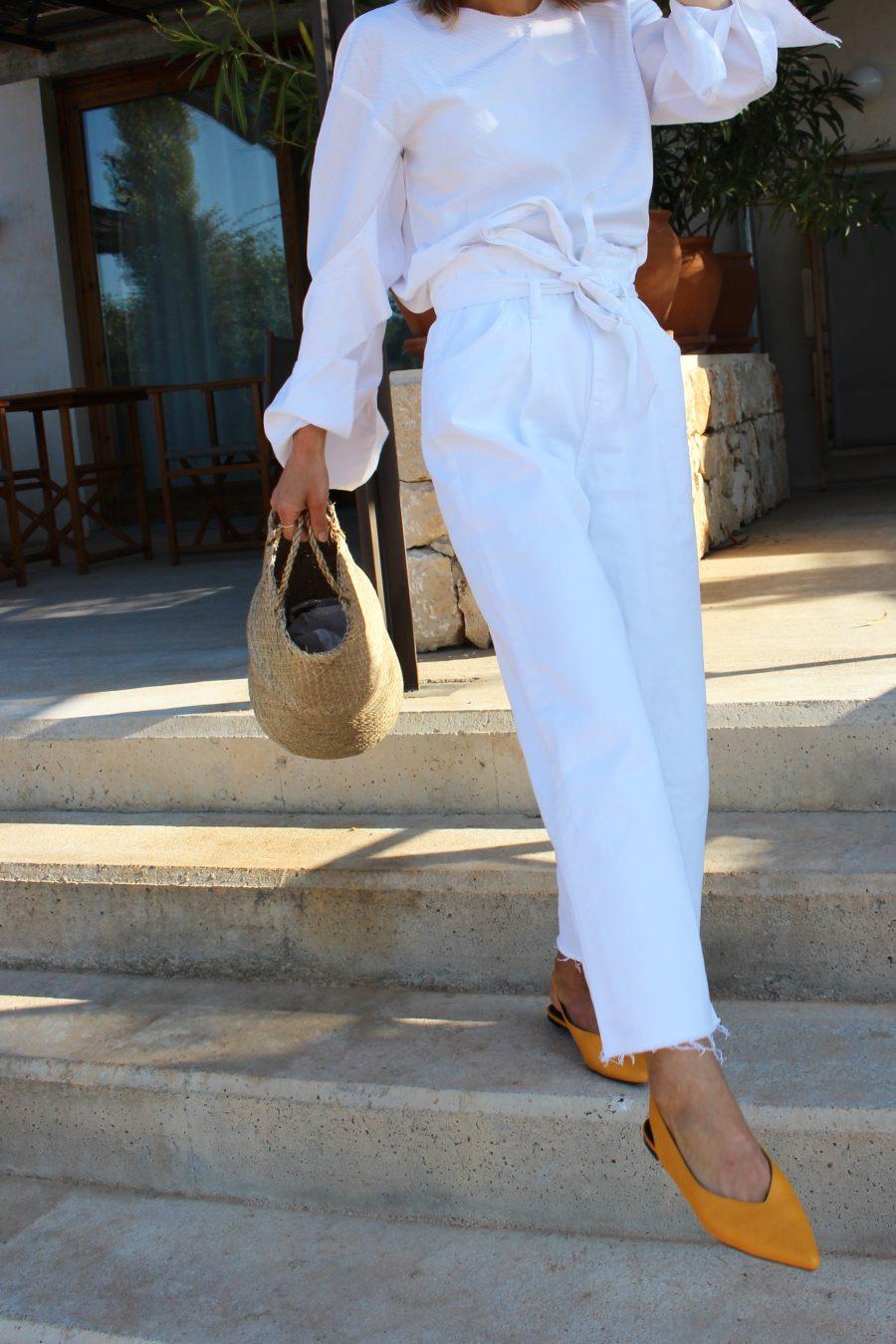 white Jeans Zara