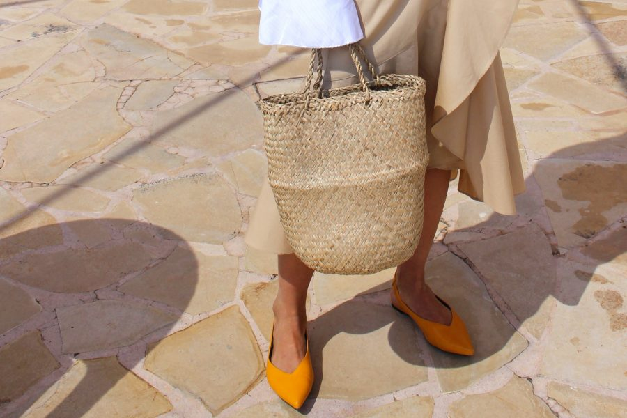 céline shoes flats yellow