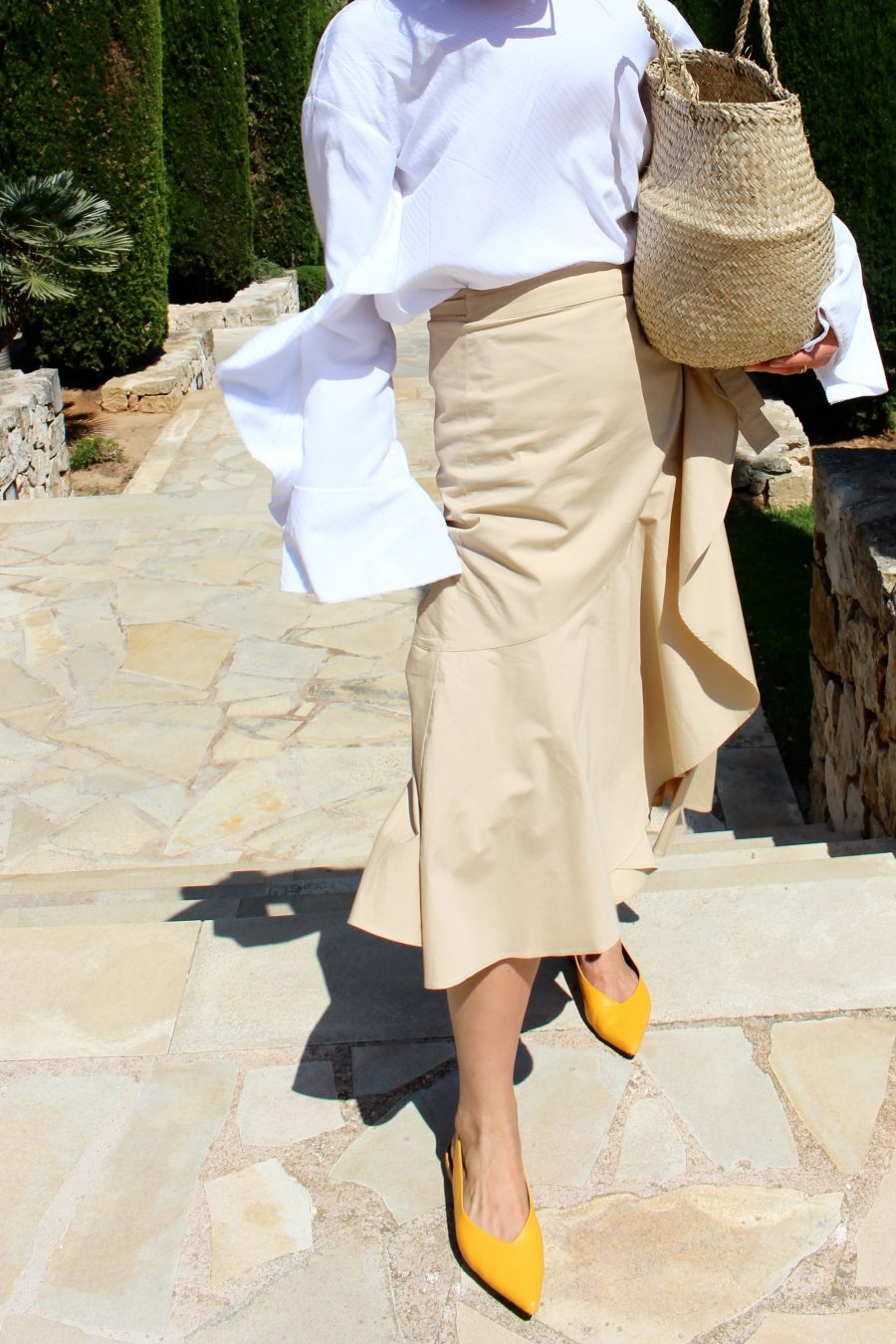 yellow shoes céline