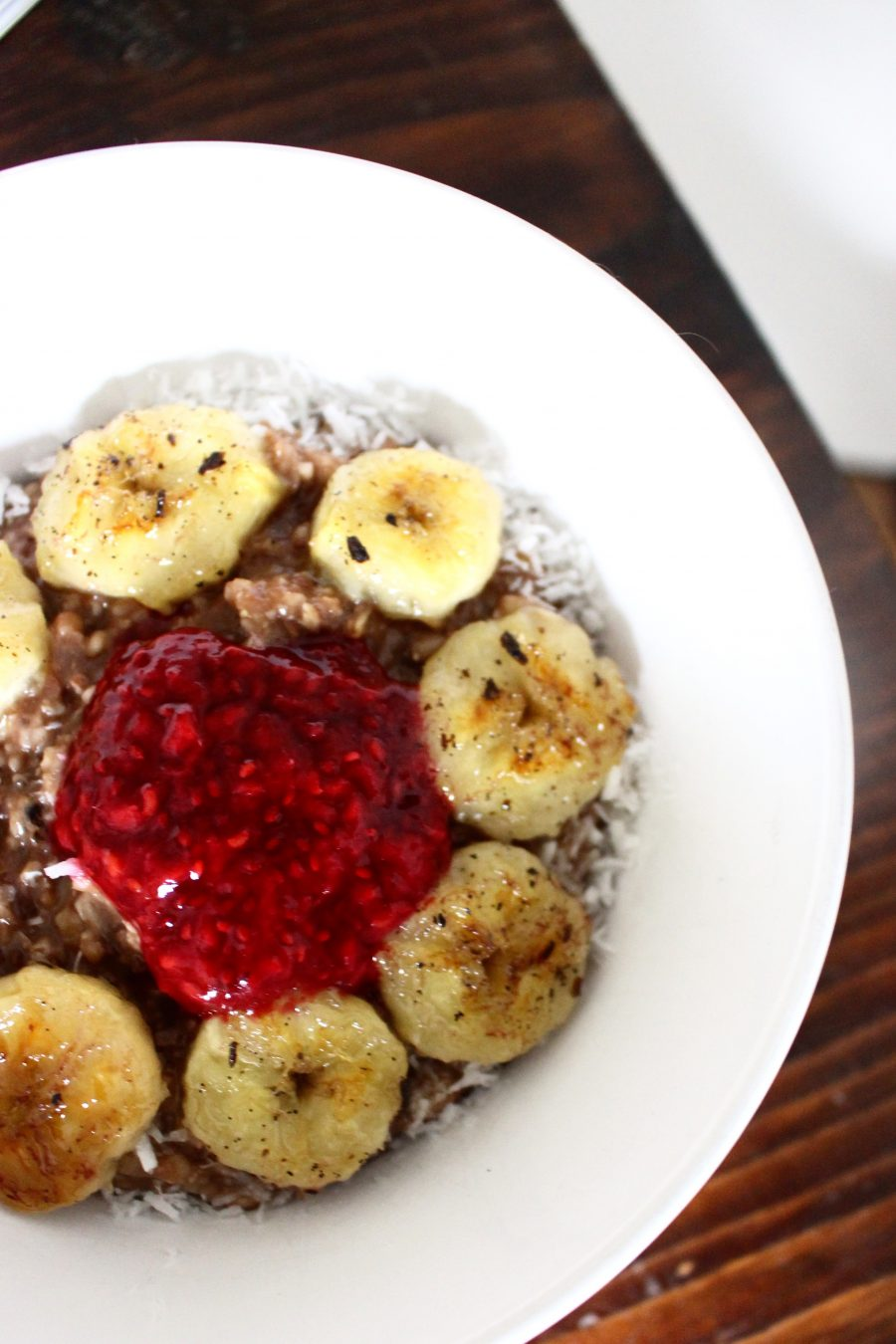 Dark Chocolate-Banana Porridge