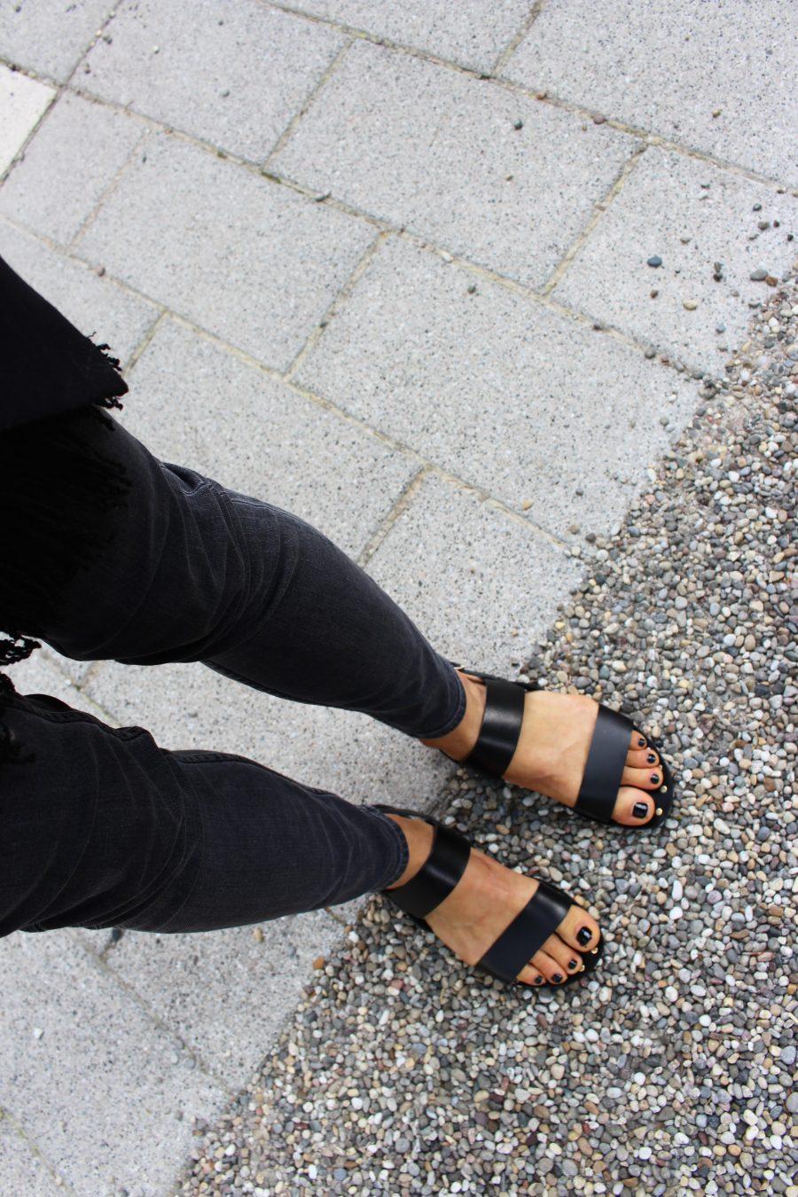 manfield Schuhe schwarz mit nieten