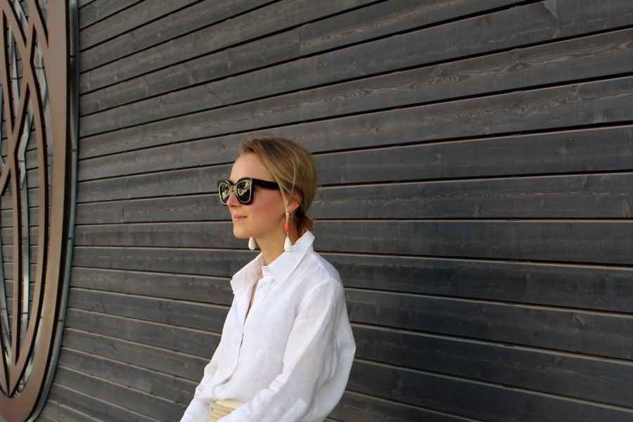 leinenhemd Zara weiß