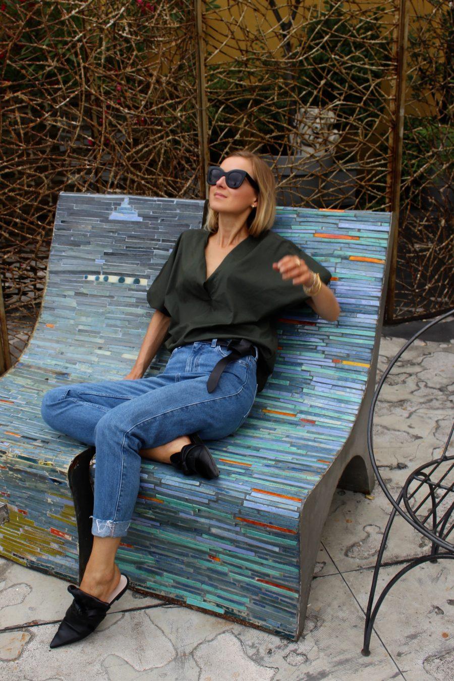denim pants H&M fashion blogger