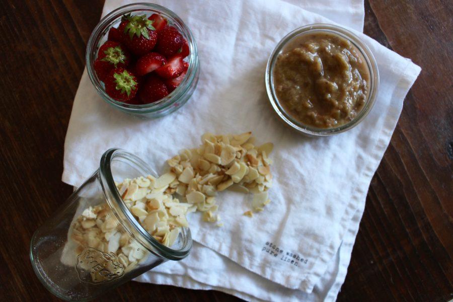frische Erdbeeren zum frühstück