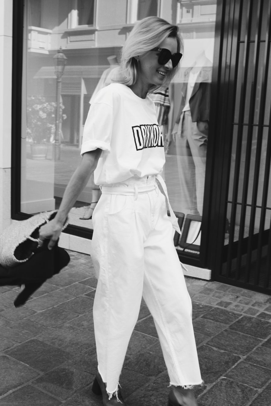 white Jeans Denim look Zara 2017