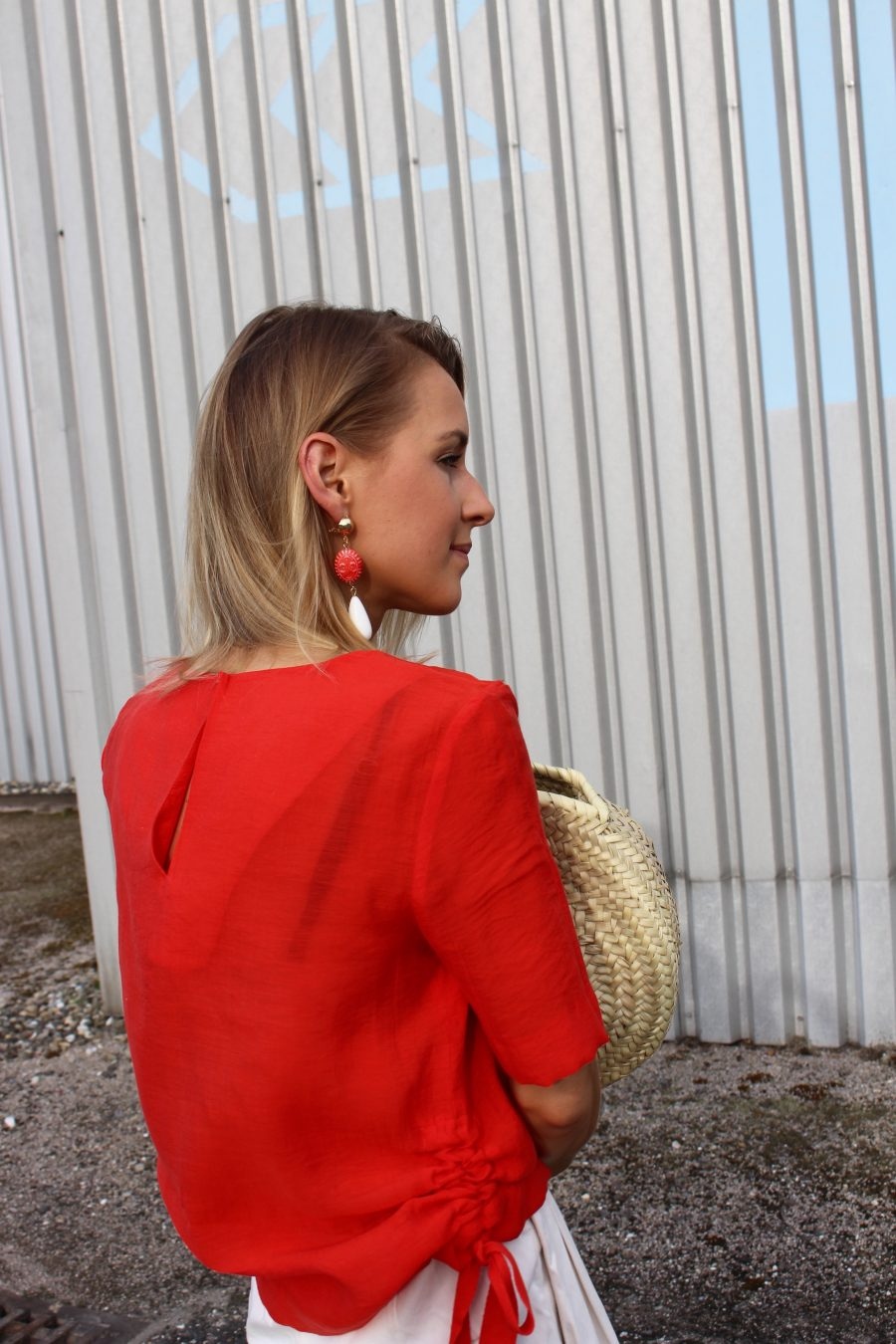 red earrings mango