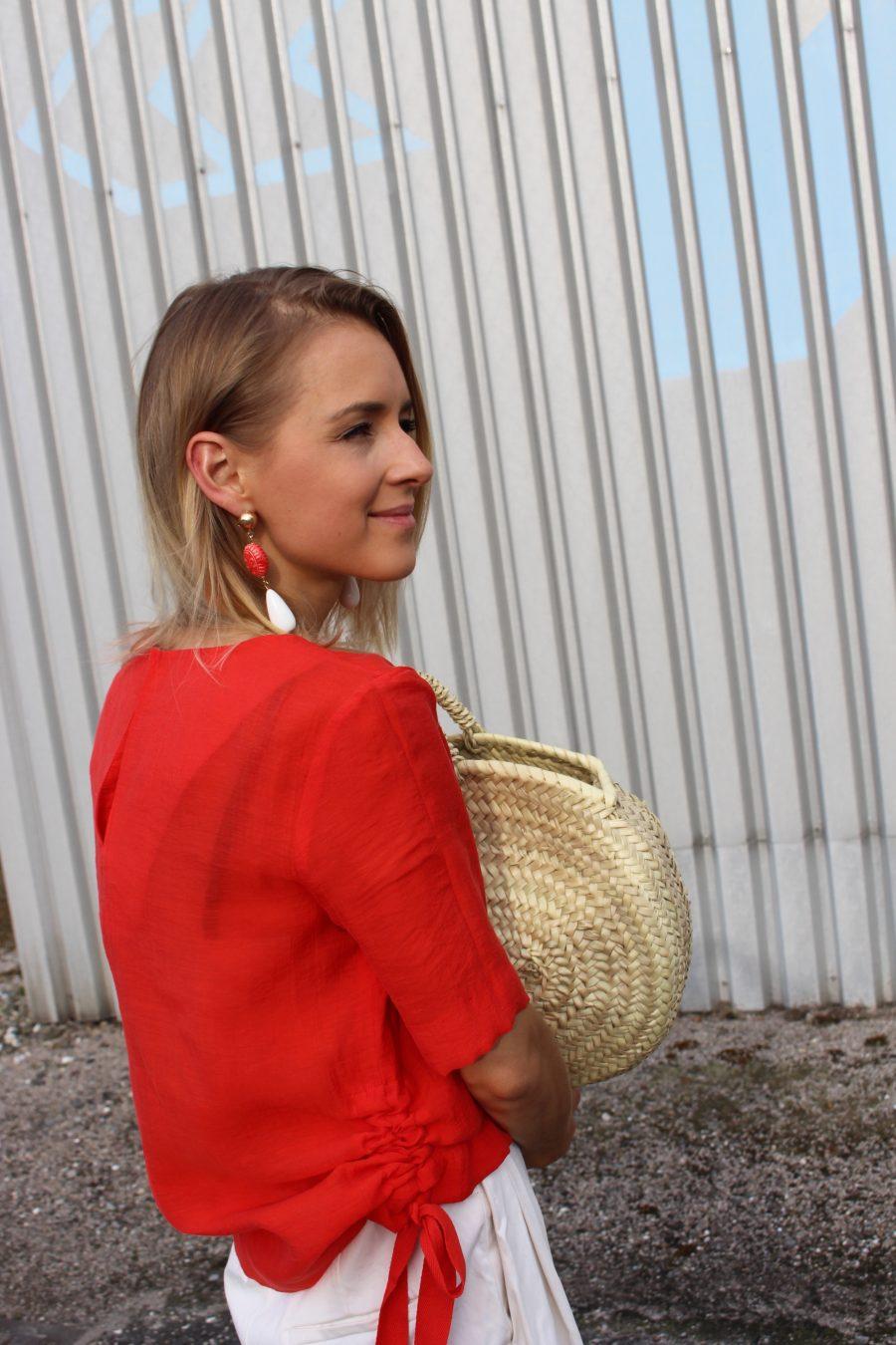 red earrings mango