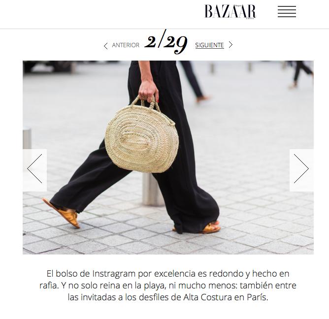 Harpers Bazaar Spain 2017 Street Style Paris Haute Couture