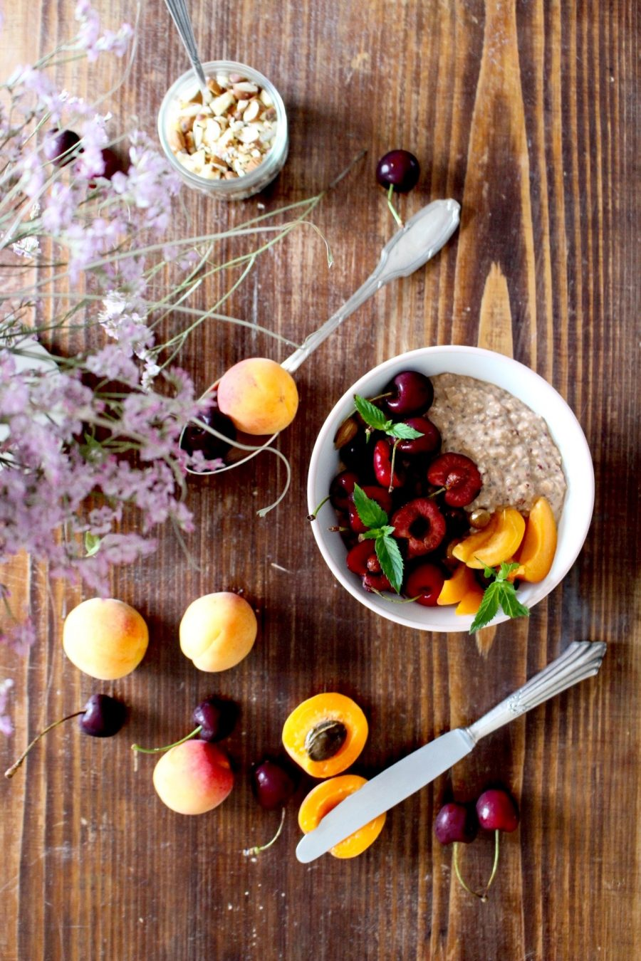 healthy Breakfast recipes with cherry and oats