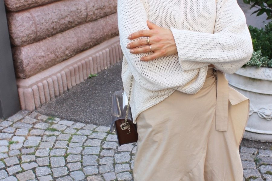 massimo dutti pullover beige