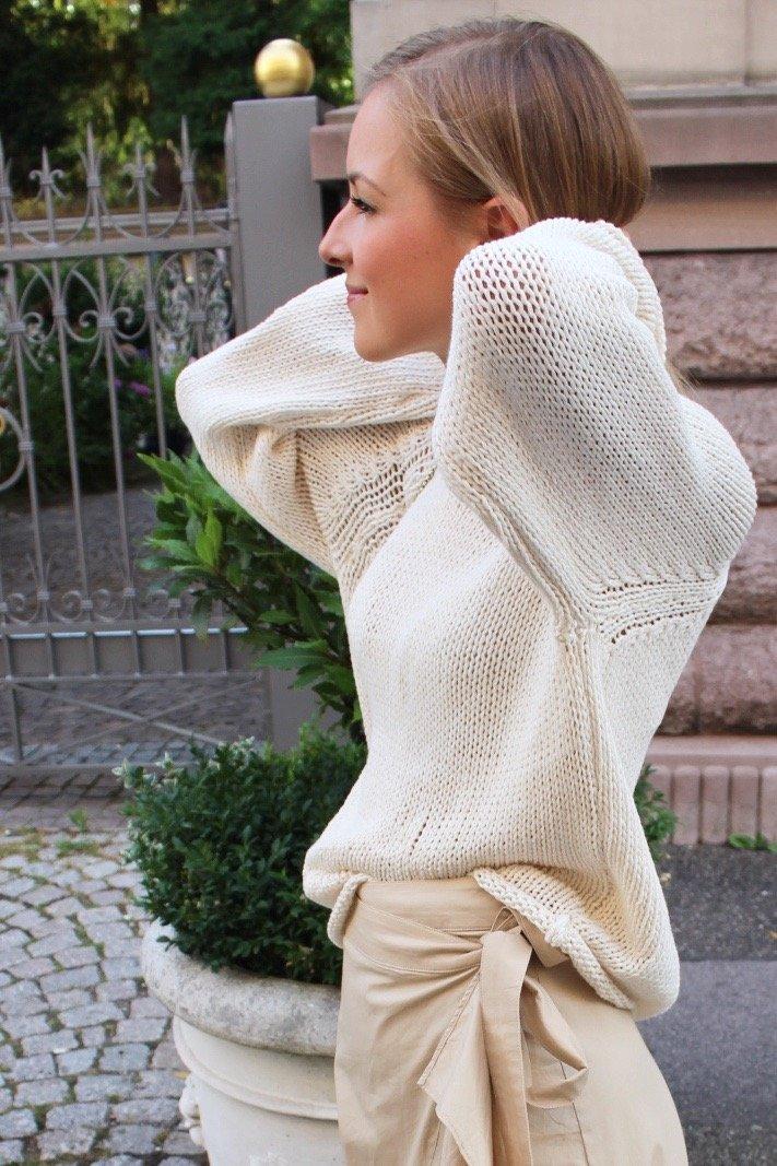 pullover massimo dutti beige gestrickt
