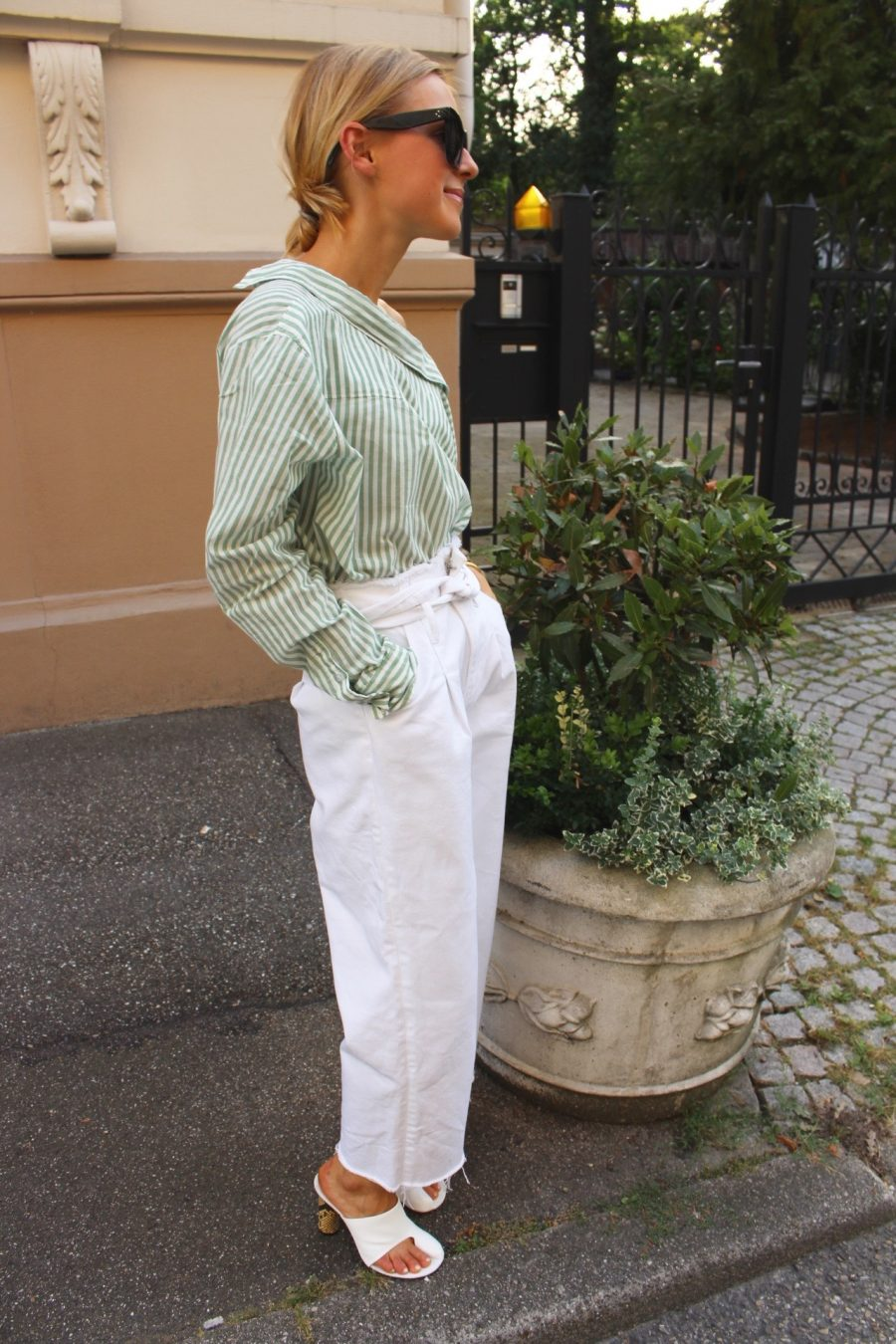 white denim pants zara