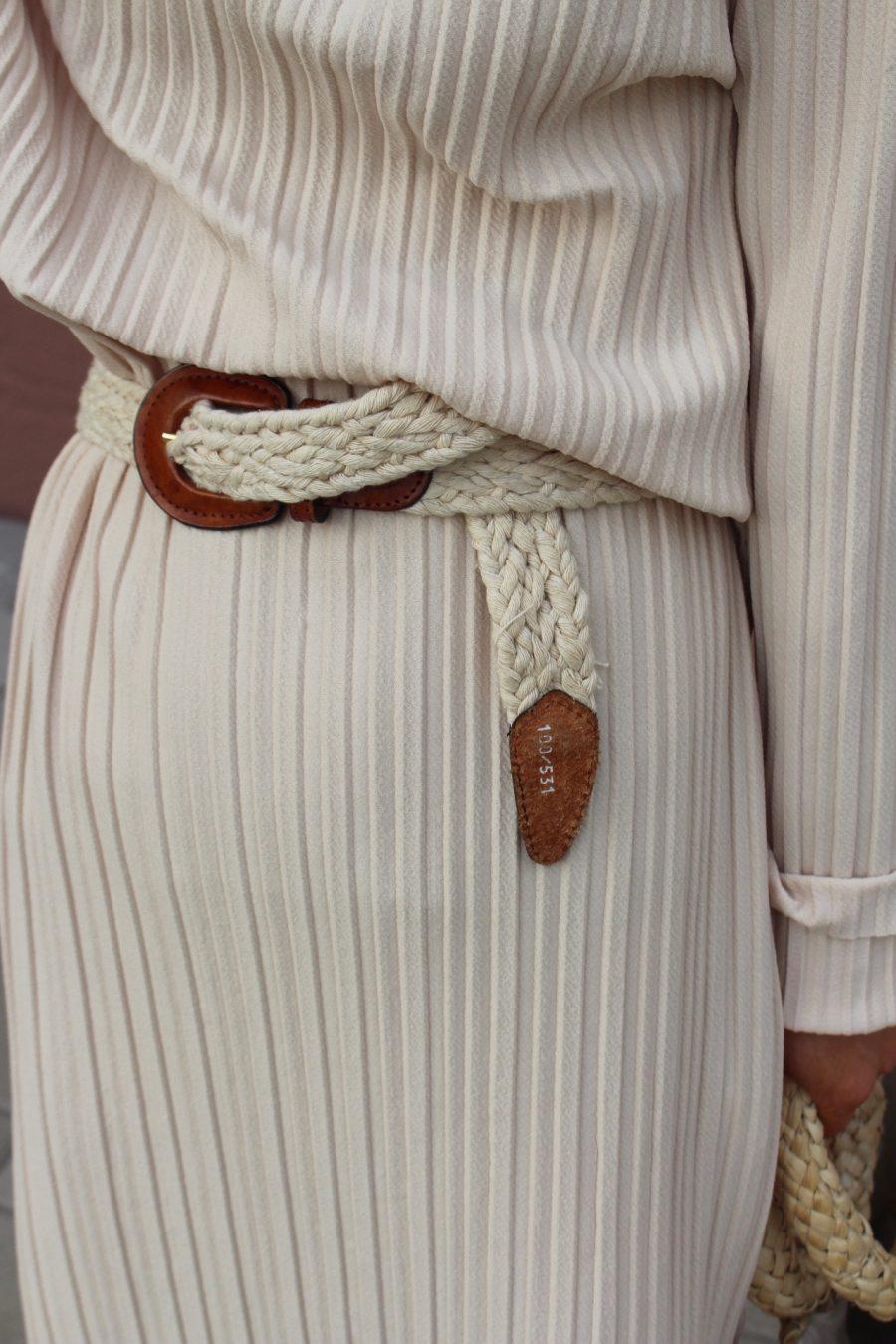 Nude Plissee Dress