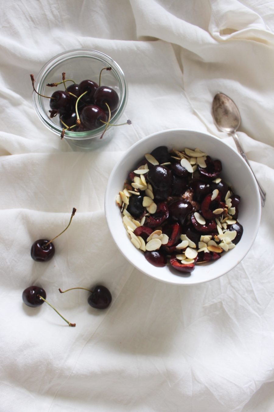 warm Chocolate-Cherry Porridge