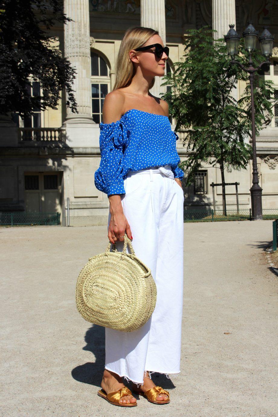 "Parisian ""bleu et blanc"" Look | 06.07.2017"