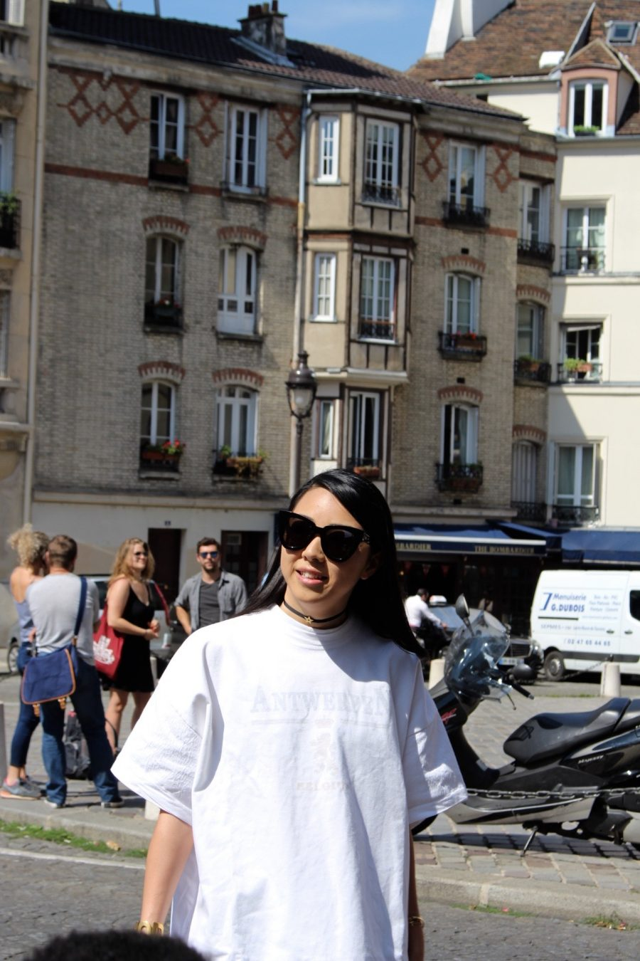Street Style Haute Couture Paris Day 3 vetements shirt white
