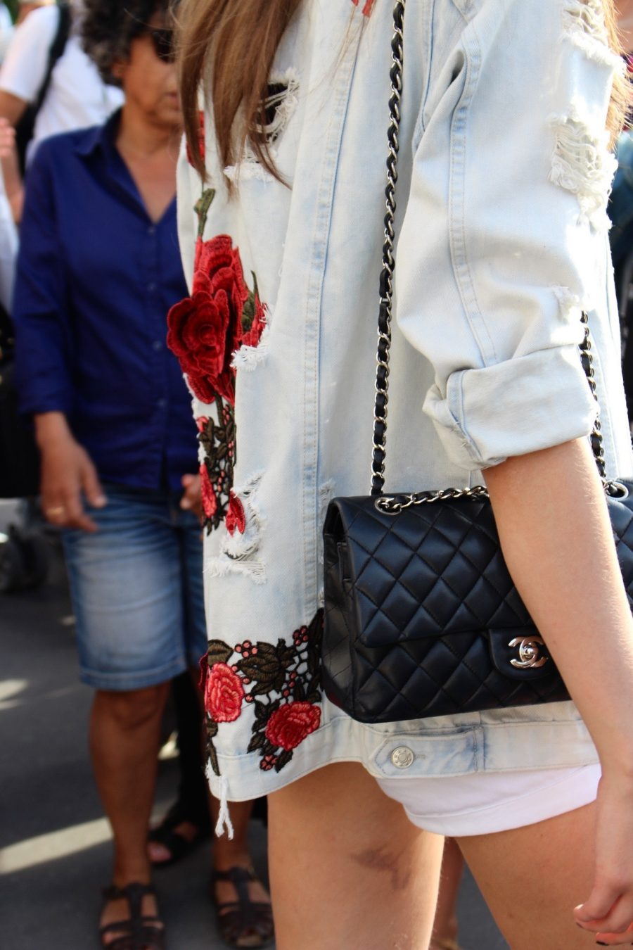 Street Style Haute Couture Paris Day 3 chanel bag