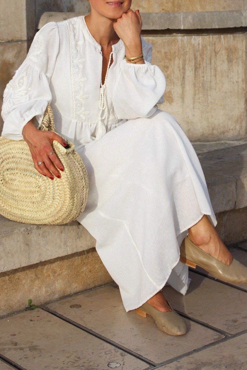 boho chic white dress zara