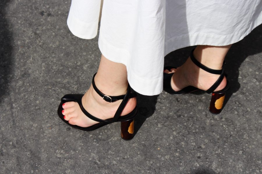 Street Style Haute Couture Paris Day 4 céline shoes black