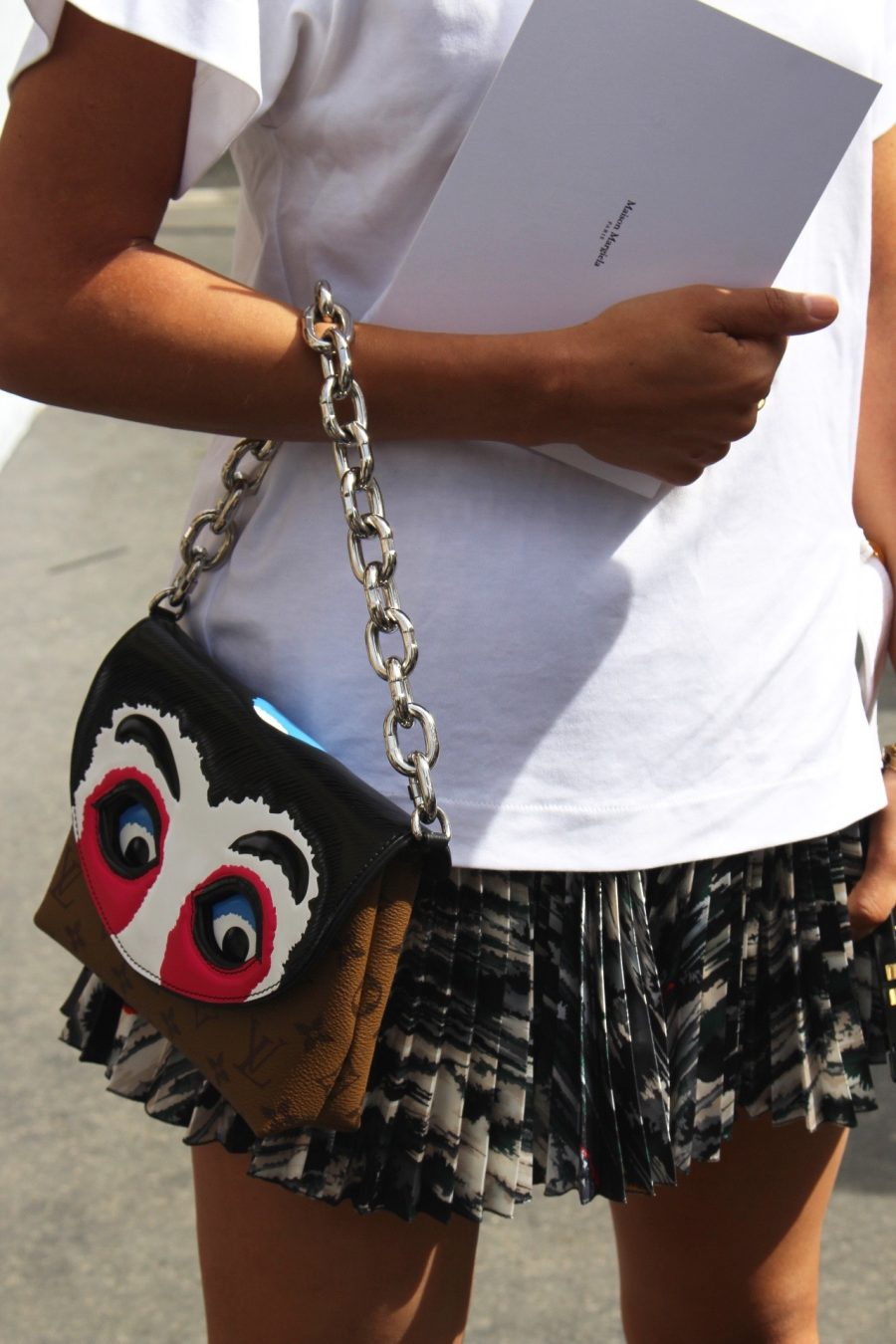 Street Style Haute Couture Paris Day 4 louis vuitton handbag
