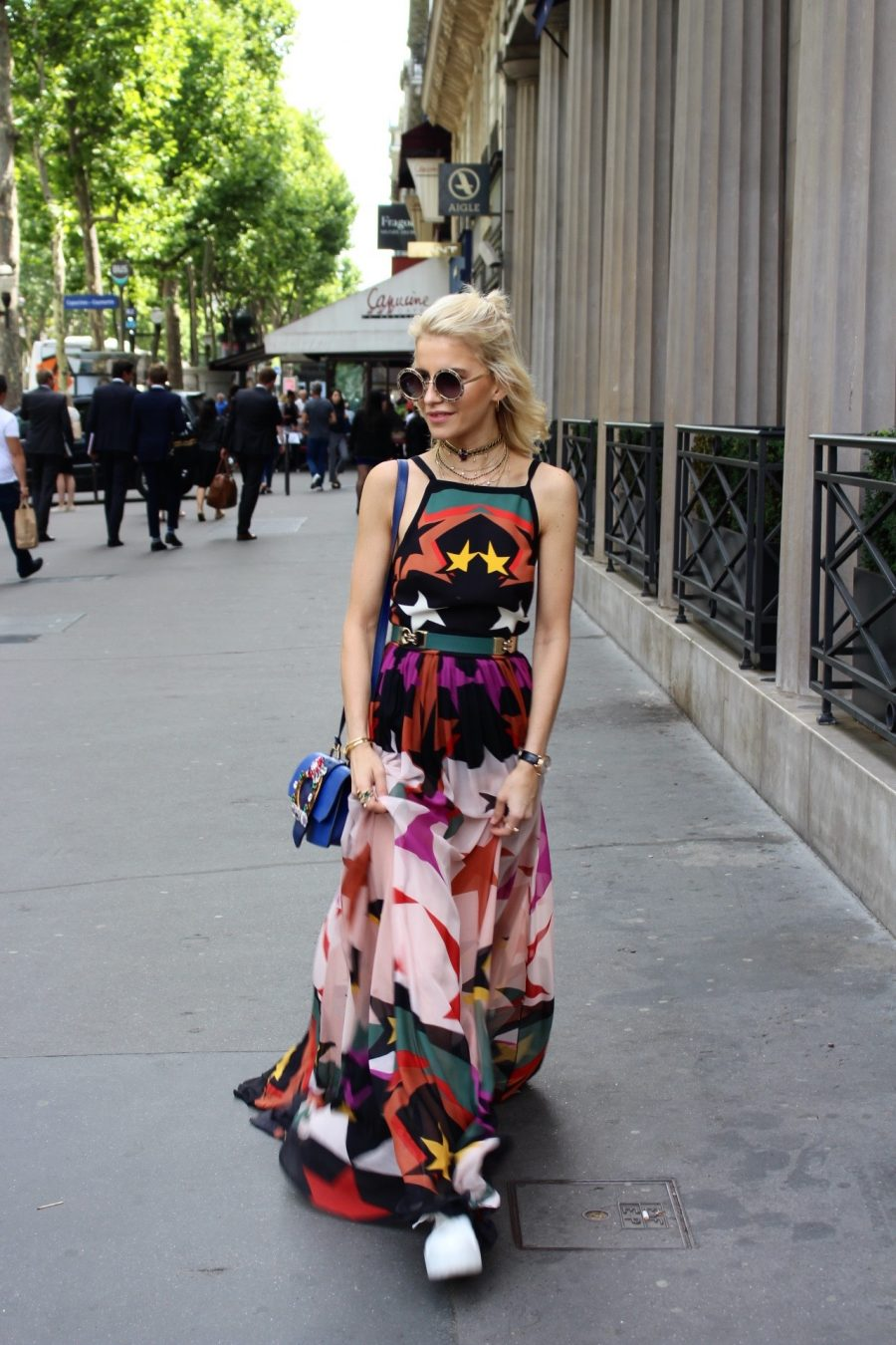 Street Style Haute Couture Paris Day 4 elie saab dress