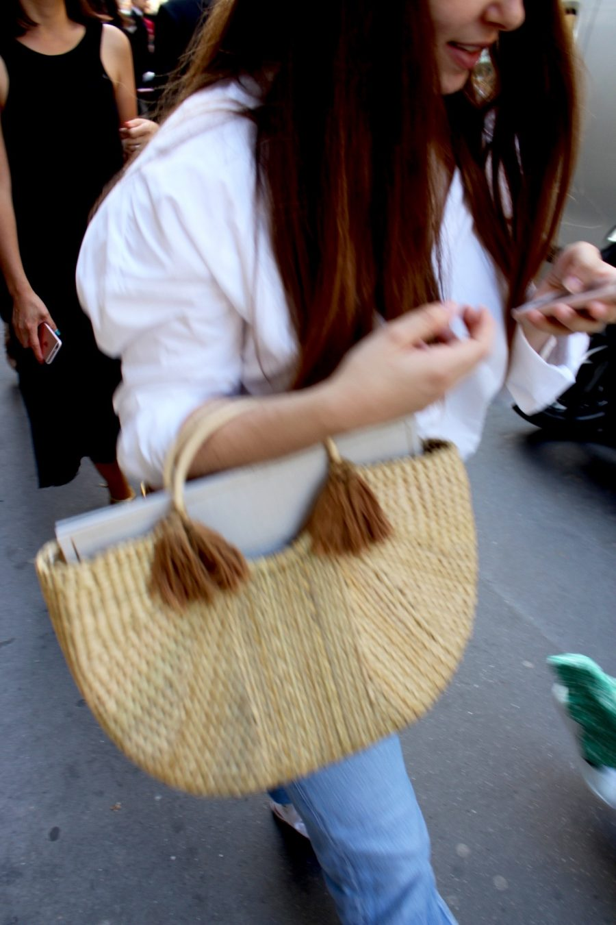 Street Style Haute Couture Paris Day 4 basket bag