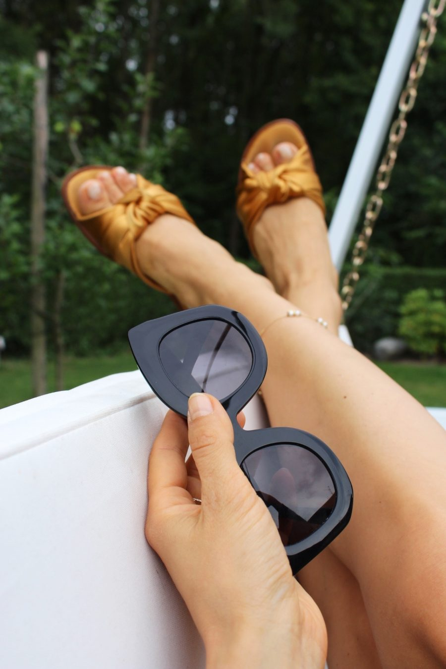 sandals zara gold