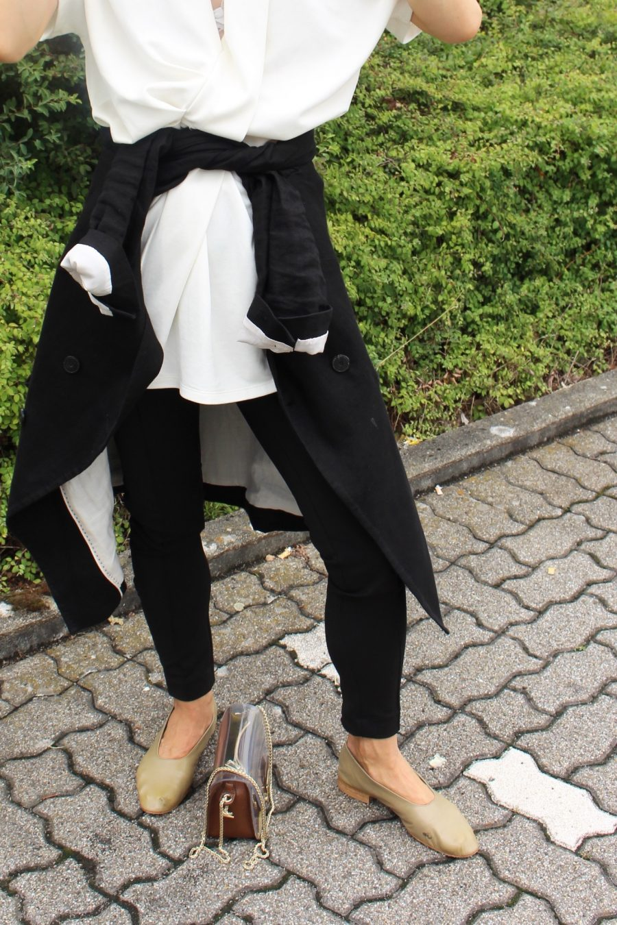 black leggings olsen look