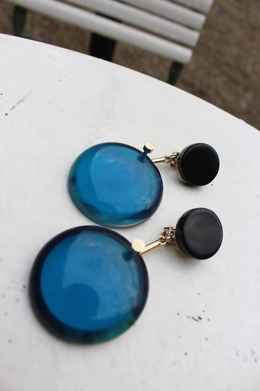 marni blue earrings