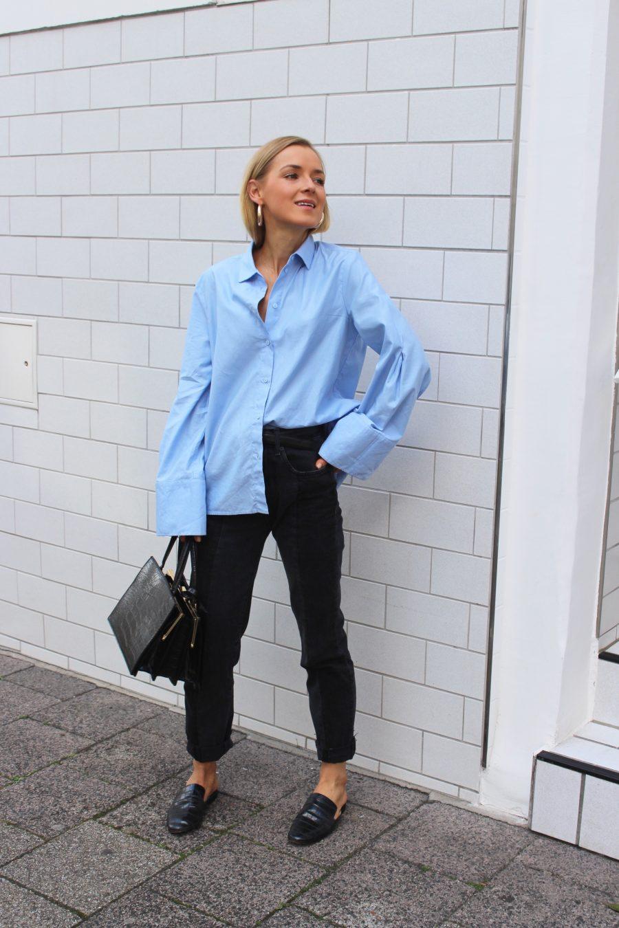 vetements jeans H&M grey