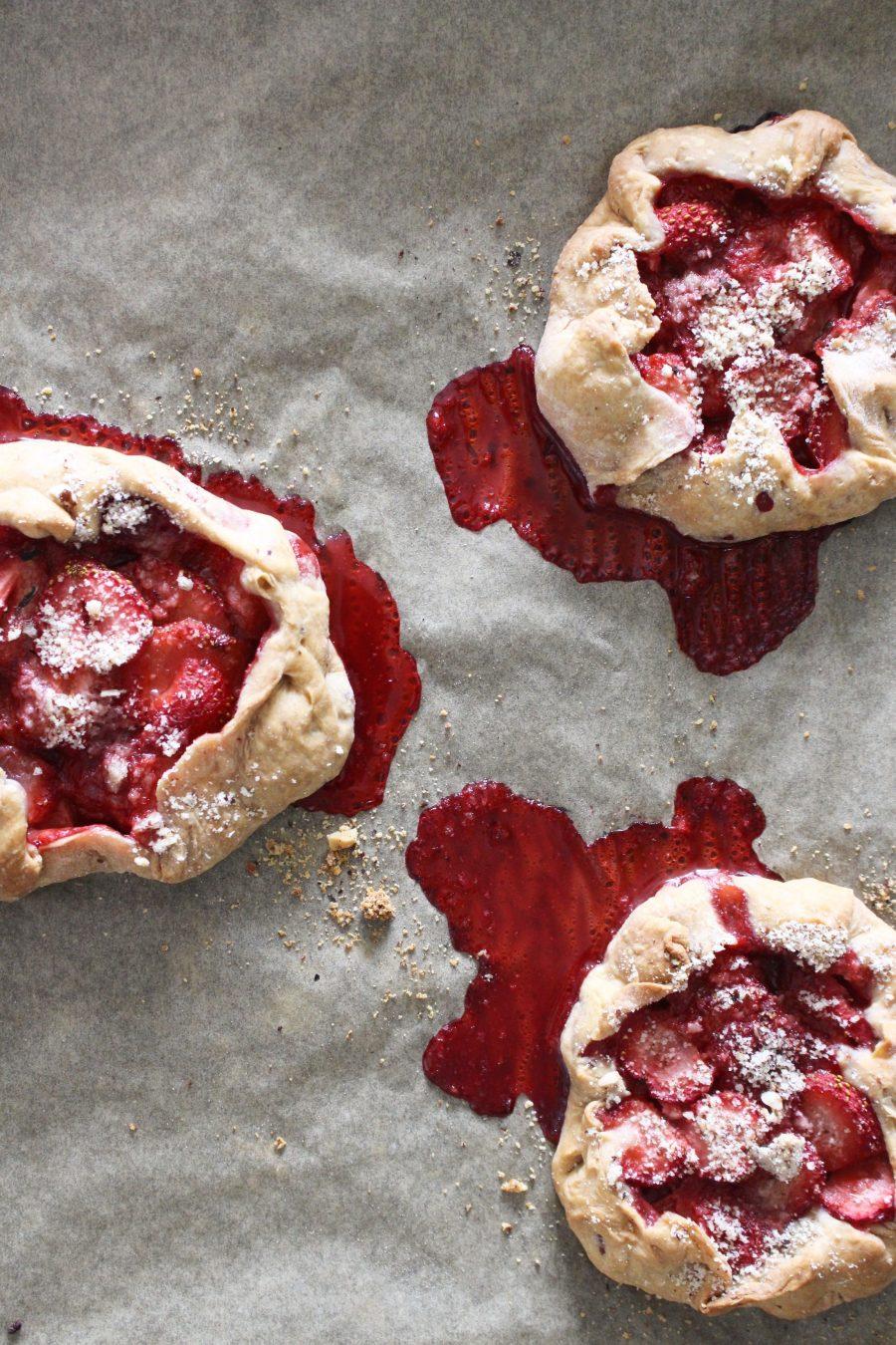 gesunde Erdbeer Galettes