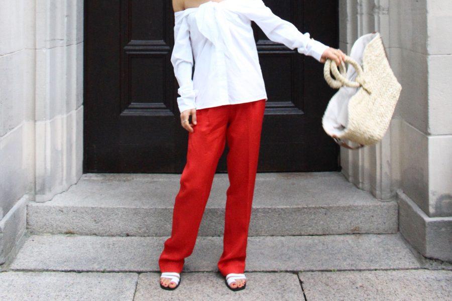 weiße bluse mit schleife H&M trend