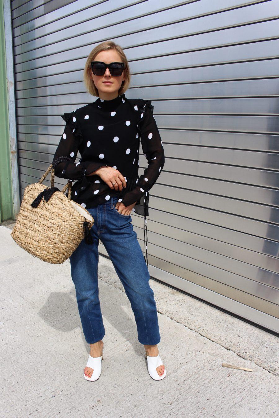 H&M Bluse mit Punkten Polka Dots