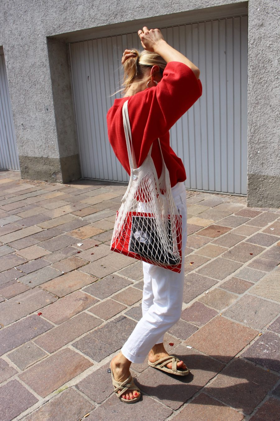 roter pullover H&M trend