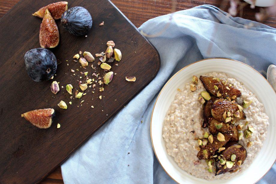 warm Porridge with caramelized figs   22.08.2017