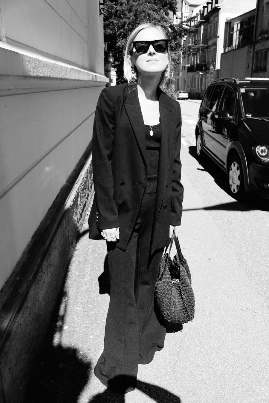 blazer schwarz H&M trend