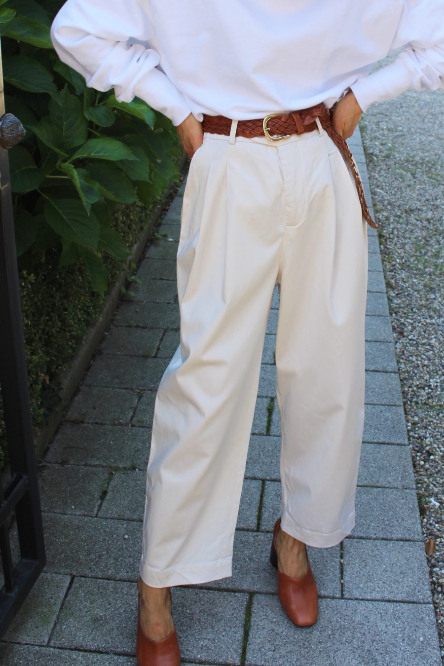 highwaisted pants zara beige