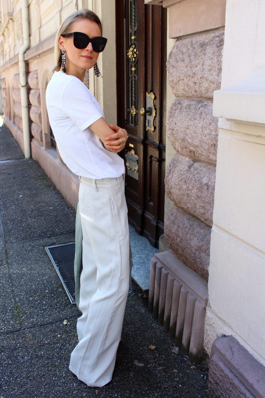 wide pants zara beige