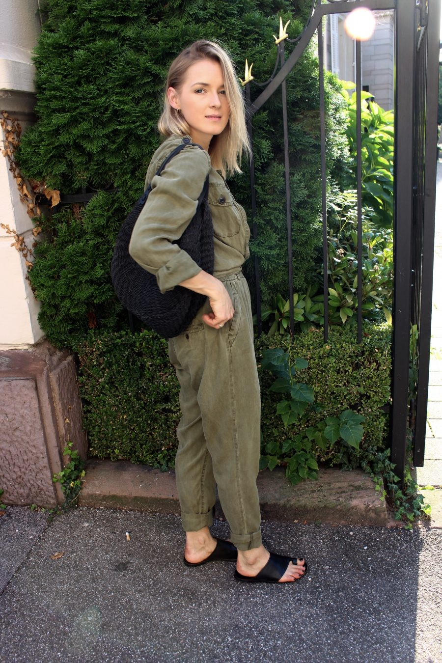 green overall H&M