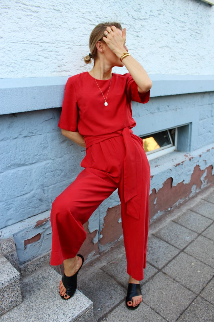 Red Jumpsuit H&M
