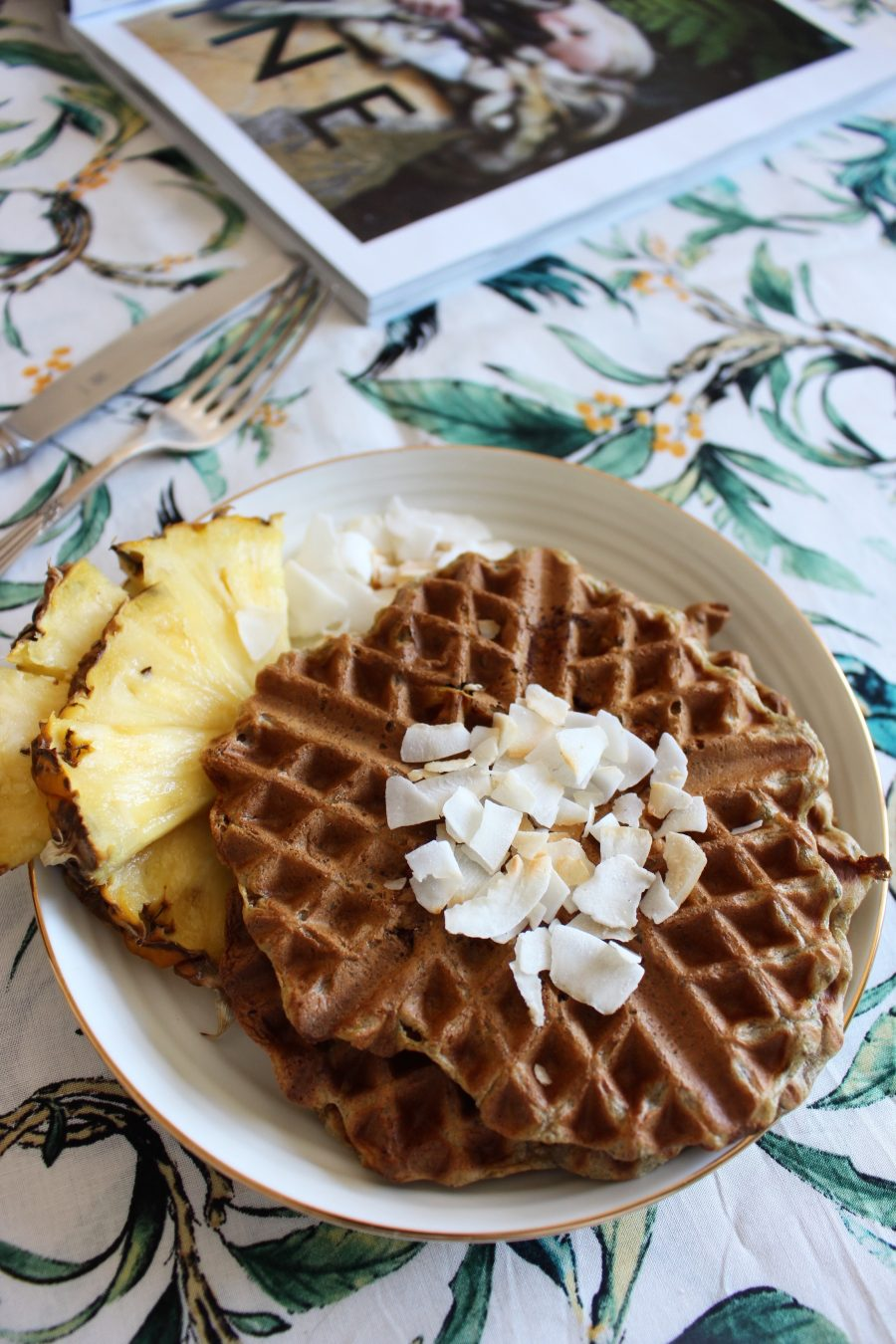 crispy vegan chia waffles